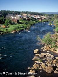 Truckee River flows through the old historic town of Truckee