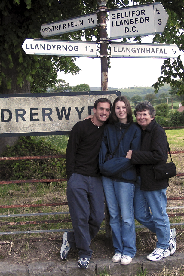 Ian, Karen and Janet in Wales, U.K.